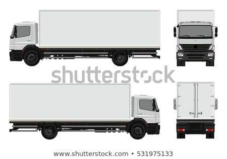 белый · грузовика · автомобилей · шоссе · черный · власти - Сток-фото © leonido