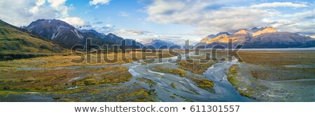 Beautiful scenics of mount Tasman valleys Aoraki Mt Cook nationa Stock photo © JohnKasawa