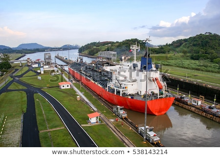 The Panama Canal, which connects the Atlantic Ocean to the Pacif Stock photo © dacasdo