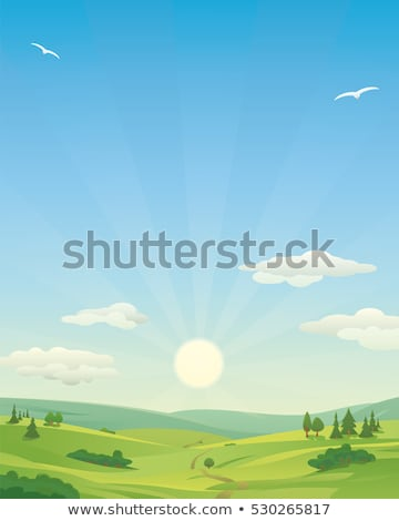 Sunrise over a rolling landscape Stock photo © zzve