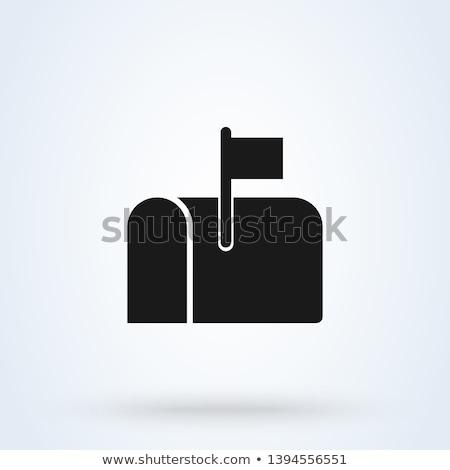 アイコン メールボックス 葉 実例 白地 ストックフォト © zzve