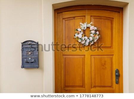 сельский деревенский дома стены вдова Сток-фото © vavlt