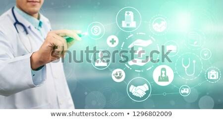 promieniowanie · terapii · mężczyzna · pacjenta · maska - zdjęcia stock © lightsource