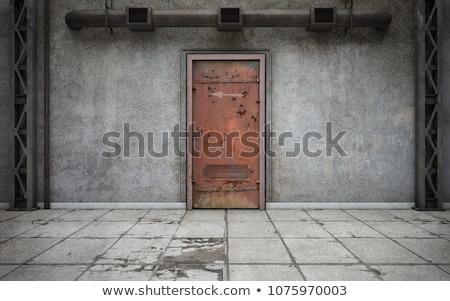 velho · ferro · porta · trancar · antigo - foto stock © smuki