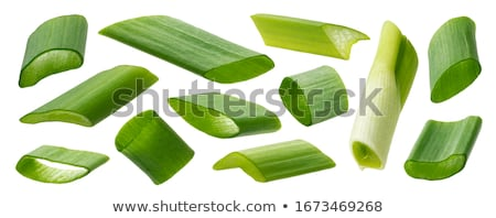 green onions leeks isolated on white Stock photo © tetkoren