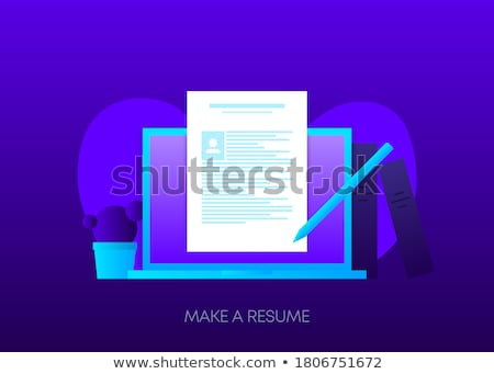 Senden Business blau arrow Slogan Stock foto © tashatuvango