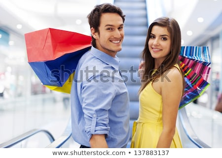 rire · femmes · vente · Shopping · dames · sourire - photo stock © rob_stark
