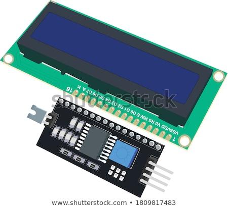 LCD charakter moduł Widok oddać biały Zdjęcia stock © cherezoff