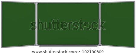 Nagy mágneses zöld tábla izolált fehér Stock fotó © cherezoff