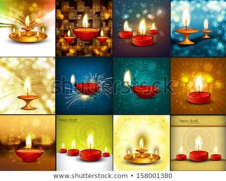Bella felice diwali 12 raccolta decorato Foto d'archivio © bharat