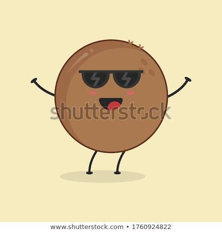 Cartoon кокосового улыбаясь яркий оранжевый тропические Сток-фото © adrian_n