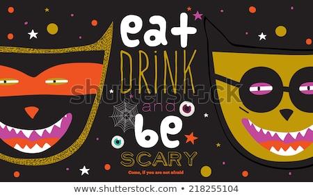 Halloween festa assustador abóboras brilhante colorido Foto stock © bharat