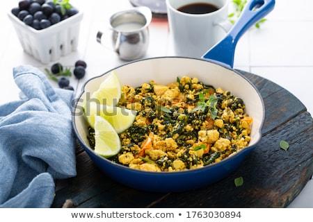 Tofu legumes vegetal fresco refeição dieta Foto stock © M-studio