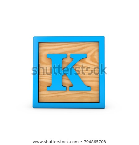 Letter K on Childrens Alphabet Block. Stock photo © tashatuvango