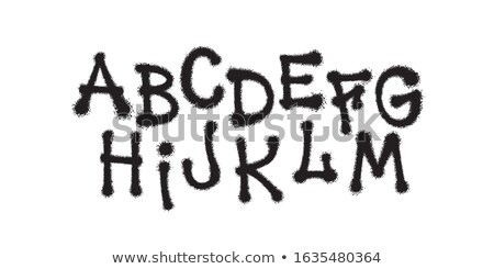 detailed graffiti spray paint font type part 1 vector alphabet stock photo © odes