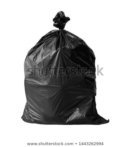 siyah · çöp · çanta · atık · arka · plan · temizlik - stok fotoğraf © lightsource