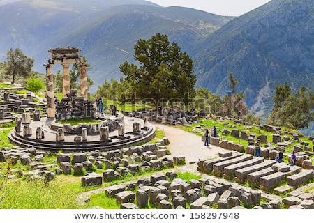 Athena Pronoia Temple at Delphi in Greece Stock photo © ankarb