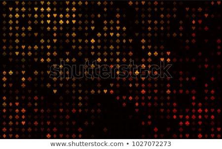 Foto stock: Cassino · pôquer · elementos · coração · fundo · quadro