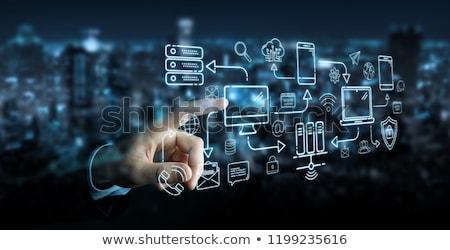 Bağlantı vektör iş dünya Stok fotoğraf © burakowski