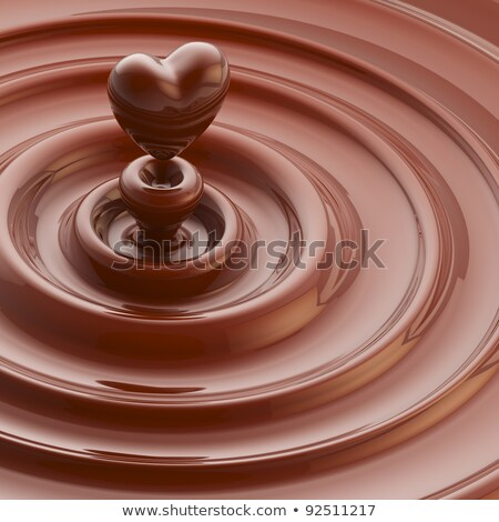 Valentine's day card heart reflection background for wave design Stock photo © bharat