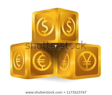 successful idea in golden cubes Stock photo © marinini