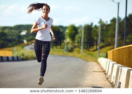 Girl jogging Stock photo © UrchenkoJulia