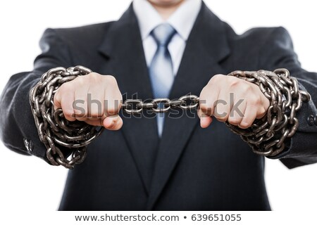 Businessman with hands tied in ropes Stock photo © stevanovicigor