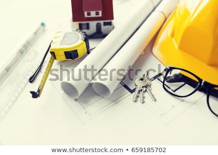 budowy · narzędzia · papieru · domu · budynku · pióro - zdjęcia stock © tannjuska