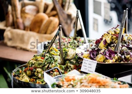 サラダ ビュッフェ 異なる 食品 健康 レストラン ストックフォト © elxeneize