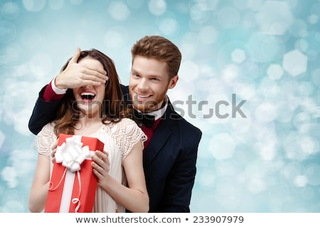Beautiful Red-haired woman with shirt and tie Stock photo © Aleksa_D