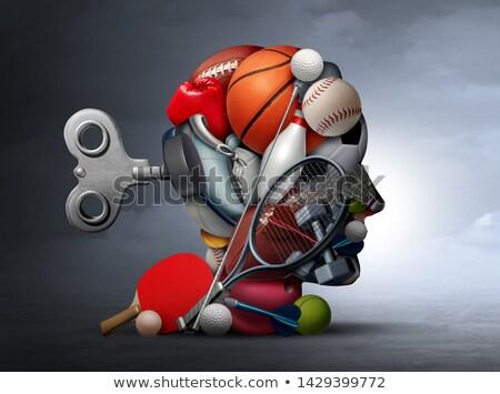 Sport psicologia gruppo attrezzature sportive cervello umano Foto d'archivio © Lightsource