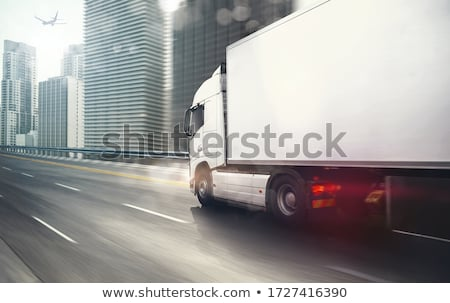 white truck moving on a highway stock photo © franky242