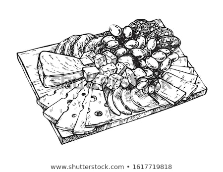 assortment of cheese on board Stock photo © M-studio