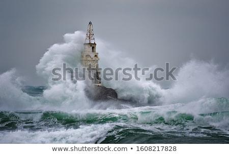 Fuerte olas mar azul tiempo ola Foto stock © shihina