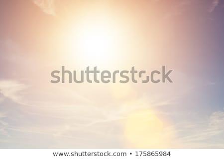 Słoneczny niebo vintage w stylu retro słońce migotać Zdjęcia stock © photocreo