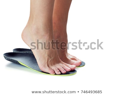 ortopédico · zapato · primer · plano · par · médicos · cuero - foto stock © manfredxy