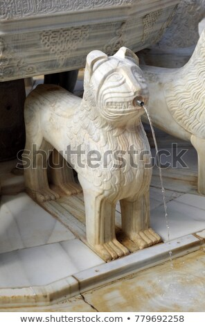 Alhambra Moorish Courtyard Lions Fountain Statue Granada Andalus Stock photo © billperry