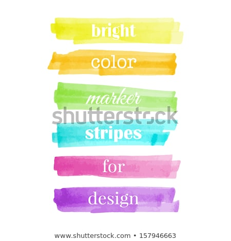 Colored Highlighters with markings Stock photo © opicobello