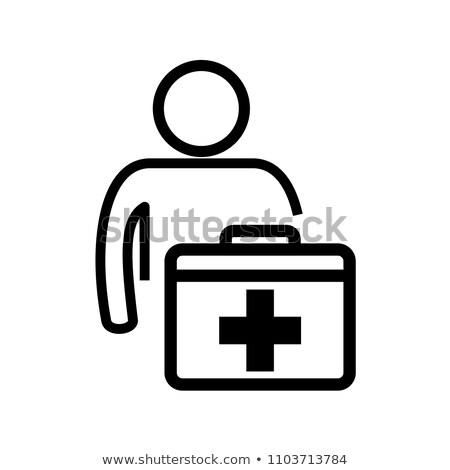 homens · médico · caso · trabalhar · atravessar · hospital - foto stock © designers