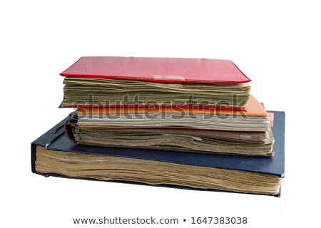 tattered journals stack isolated on white background Stock photo © natika