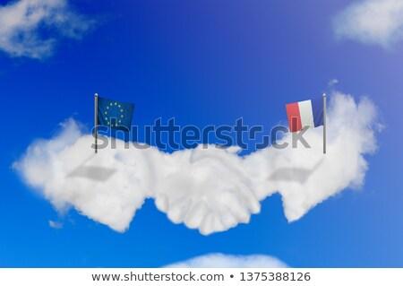 Frankrijk eu handen schudden business handen succes Stockfoto © Zerbor