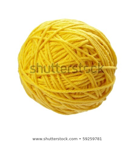 黄色 ウール 糸 ボール 孤立した 白 ストックフォト © EwaStudio