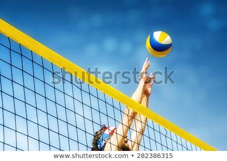 Praia vôlei bola mar esportes verão Foto stock © Koufax73