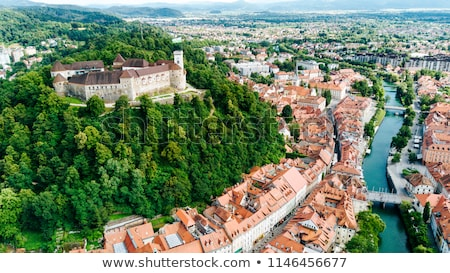 Ljubljana's city center, Slovenia, Europe. Stock photo © kasto