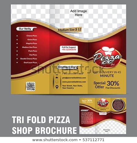 Pizza broşür şablon Internet dizayn içmek Stok fotoğraf © rioillustrator