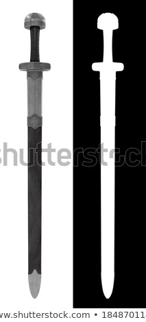 two sword on white background isolated 3d image stock photo © iserg