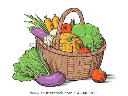 lettuce organic farming in wicker basket Stock photo © marimorena