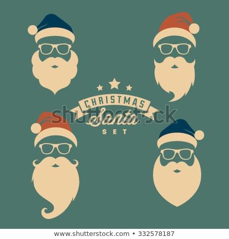 Christmas Santa Hat - Vintage Style Stock photo © frannyanne