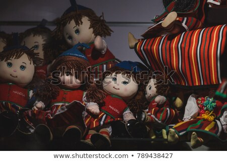 oyuncak · bebekler · tablo · duvar · kırmızı - stok fotoğraf © haraldmuc