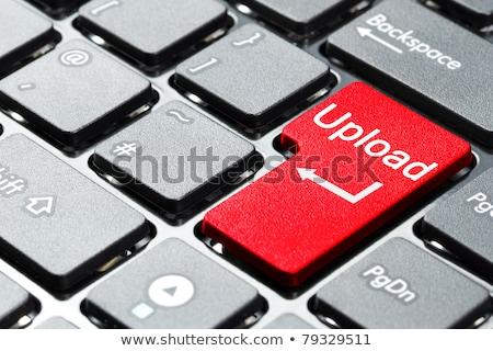 Upload on Red Keyboard Button. Stock photo © tashatuvango